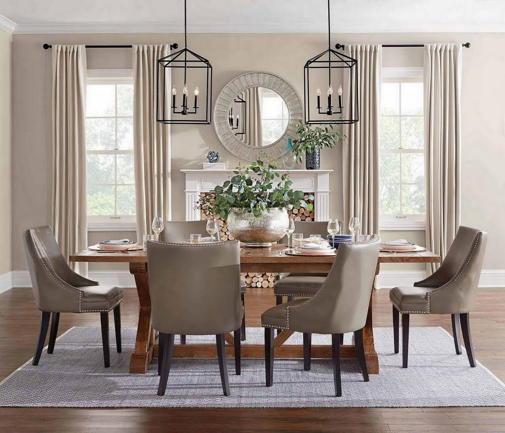 Natural Classic Dining Dining Room The Home Depot Classic Dining Room Dining Room Curtains Dining Room Decor Traditional