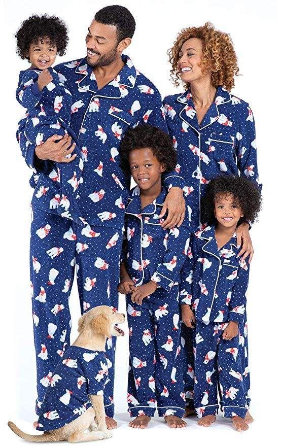 PajamaGram Family Matching Christmas Pajamas Cozy Fleece