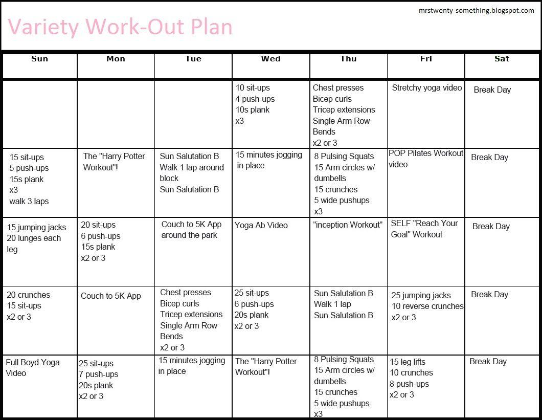 30 Day Ab Workout Plan Calendar
