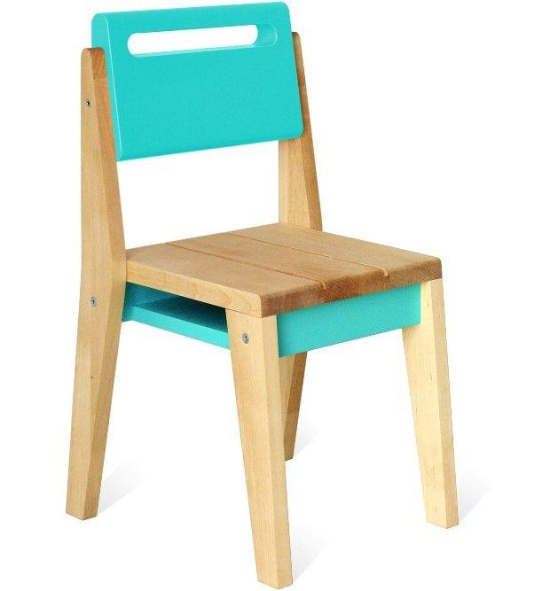 Chaise D Enfant Zinda Bleu Turquoise Cadeiras