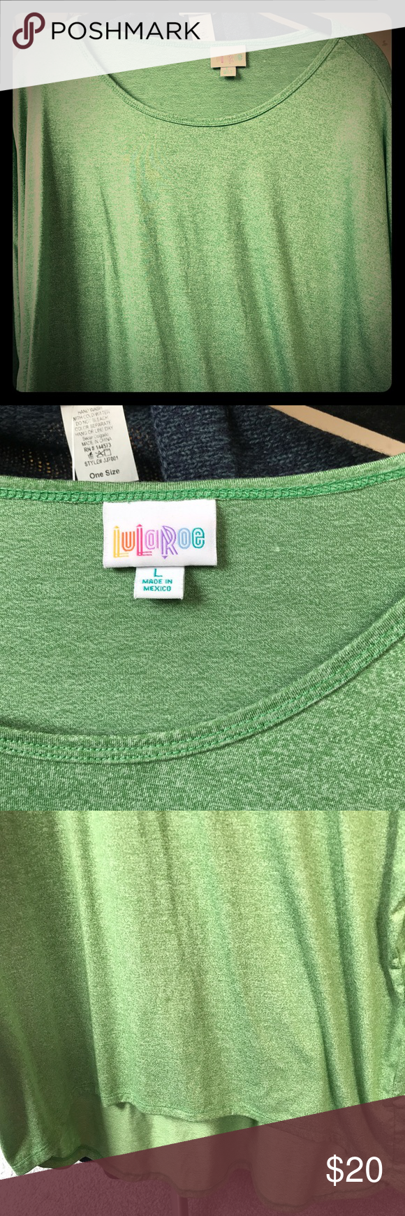 KELLY GREEN LULAROE LG IRMA SOFT PERFECT COLOR KELLY GREEN LULAROE LG IRMA SOFT PERFECT COLOR. SIZED VERY LOOSE. LEGGING MATERIAL. VERY DRAPY. TIE AT WAIST. LuLaRoe Tops Tunics