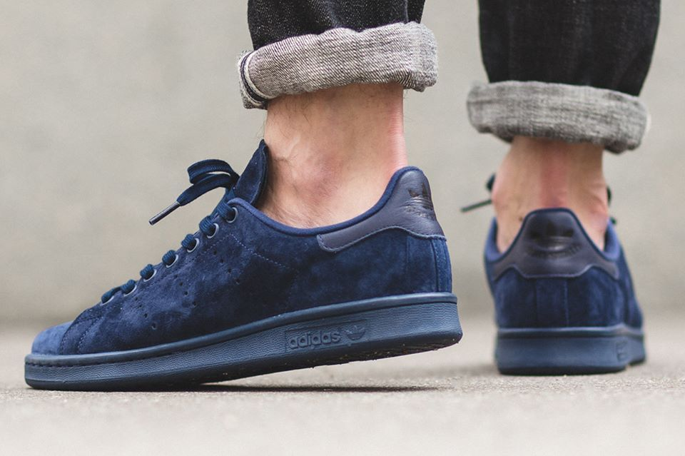 competitive price e1549 24888 Adidas Stan Smith Suede  Night Indigo