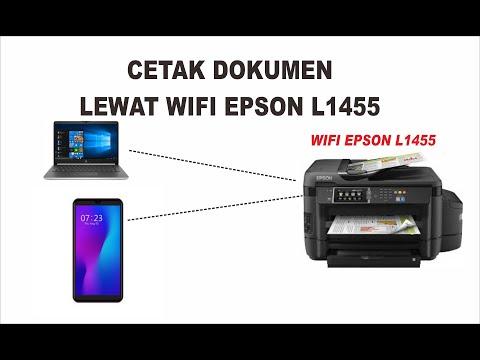 Cara Cetak Dokumen Lewat Wifi Epson L1455 Dari Leptop Dan Hp Youtube Di 2021 Youtube