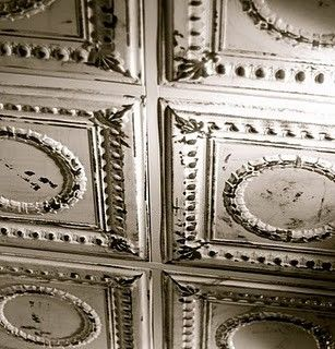 Love, love, LOVE tin ceilings in the home... or anywhere... including a roof.