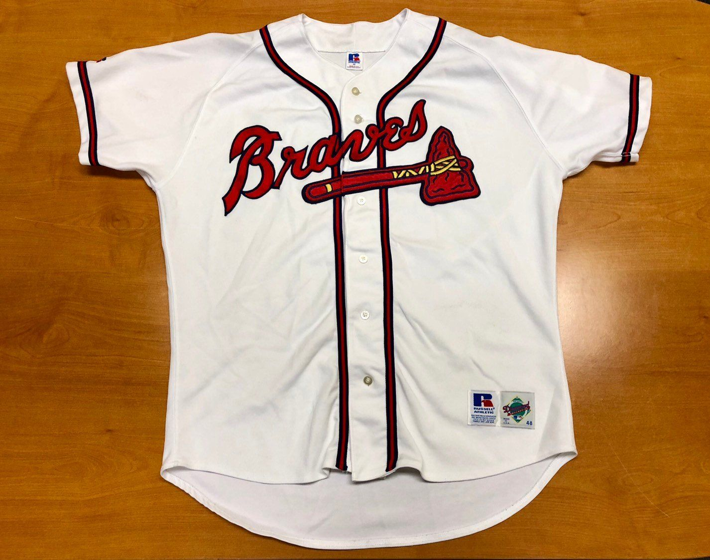watch 337c7 3d015 Vintage 1992 - 1998 Atlanta Braves Russell Authentic Jersey ...