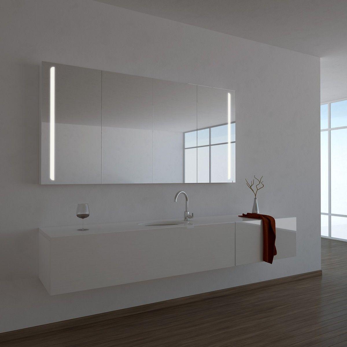 Spiegelschrank Ogrel Mit Led Beleuchtung Mit Bildern Spiegelschrank Bad Spiegelschrank Beleuchtung Spiegelschrank