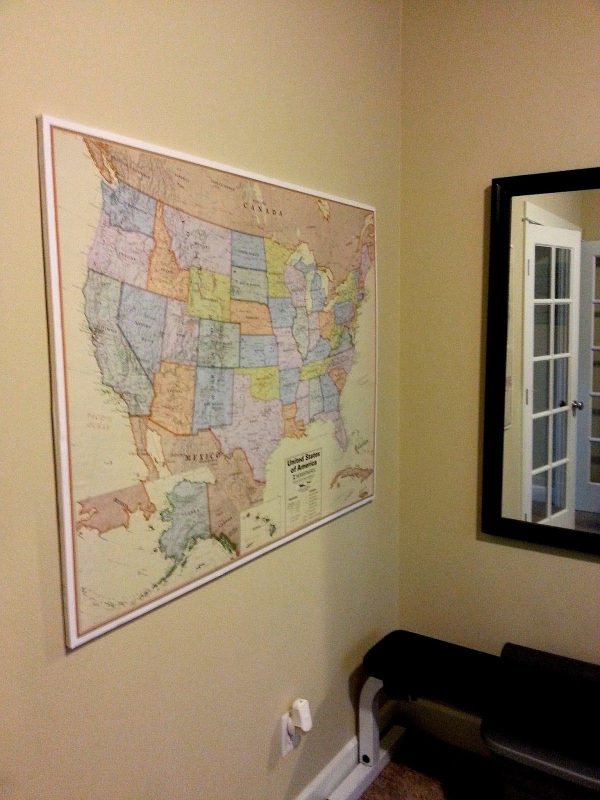 Mount And Hang Large Maps With Ease Map Crafts Framed