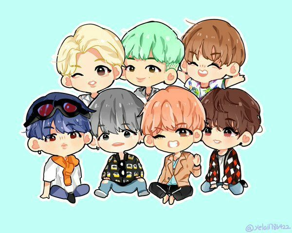 BTS Cartoon Photos [Fanart]