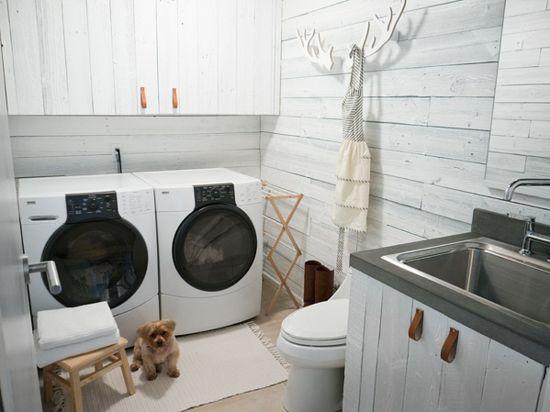 weiße Paneele Waschküche Keller Idee Waschküche Pinterest - ecke sinnvoll nutzen ideen dort passen wurde