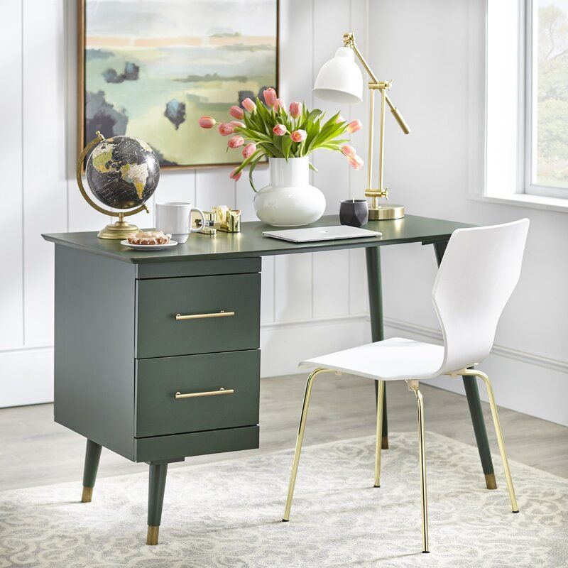 Beckley Mid Century Writing Desk In 2020 Mid Century Writing Desk Mid Century Desk Cheap Office Furniture