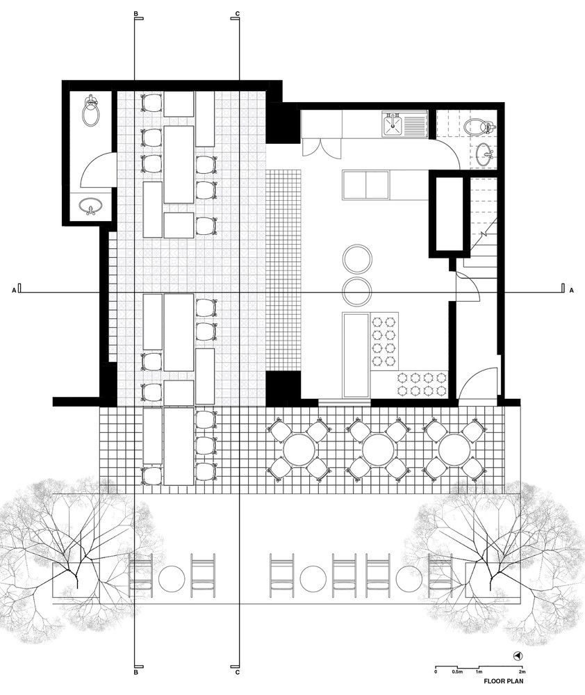 Gallery of Bars and Restaurants 50 Examples in Plan and