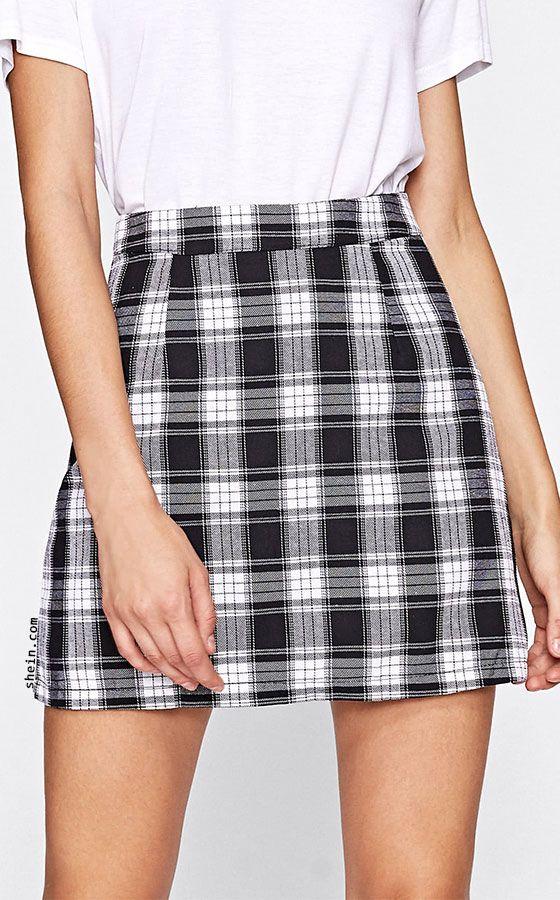 d917cc0a3f Tartan Plaid Zipper Back Skirt | Spotlights | Plaid mini skirt ...