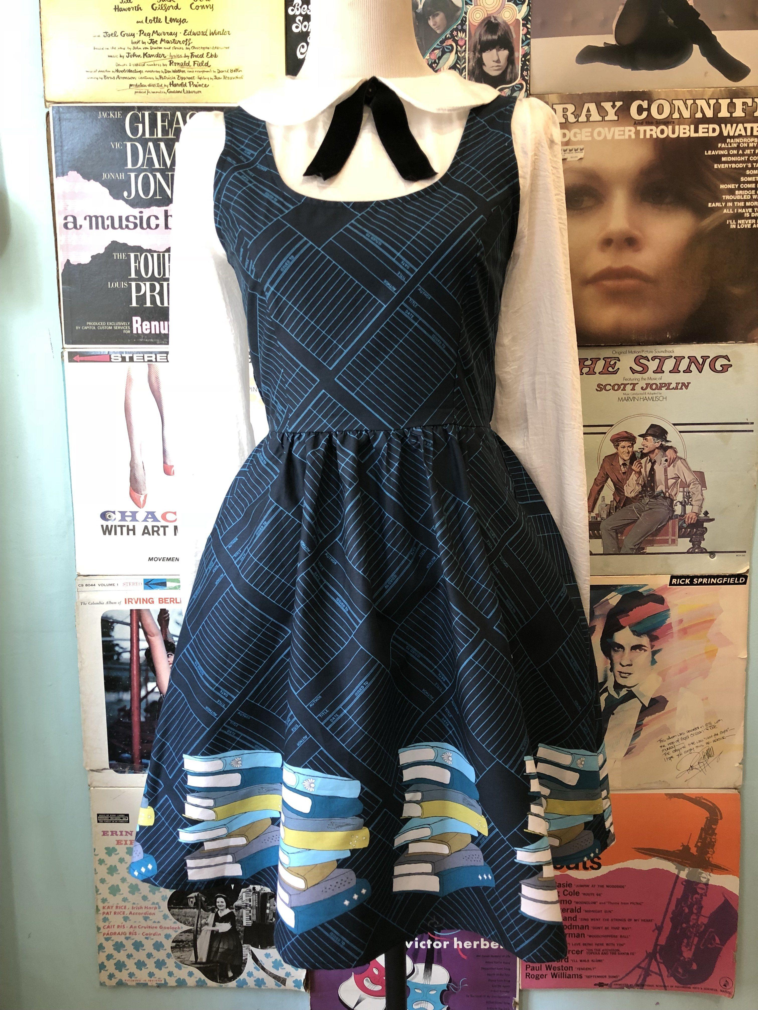 Leslie knope wedding dress  Retrolicious Bookworm Dress  Style  Pinterest  Cotton tights