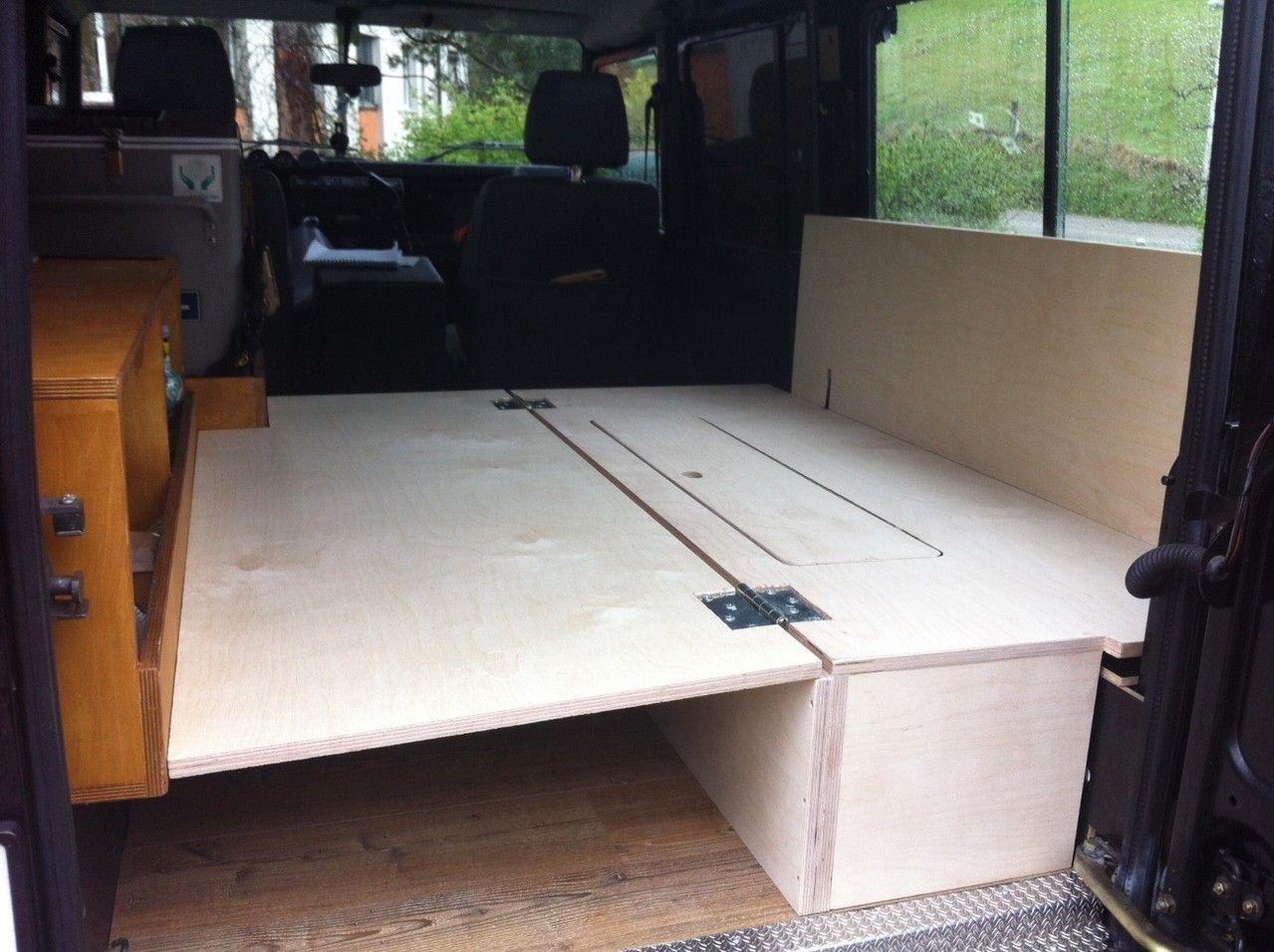 Defender Umbau Sitzecke/Bett Umbau, Camping ausbau, Ausbau