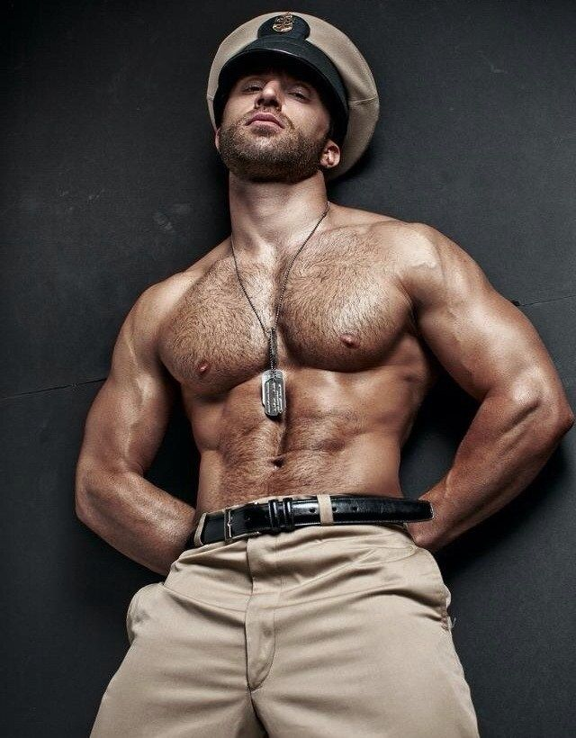 Sexy Hairy Muscle Man