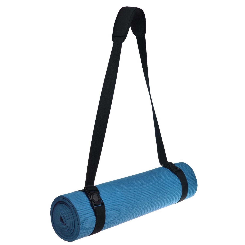 black com carrying fit mats adjustable spirit dp outdoors cotton mat straps sports amazon strap yoga