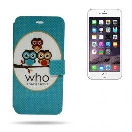 Card Dibujo iPhone 6 Plus Having a Baby Fabricadas en PU (tacto piel) resistente y de alta calidad con tarjetero incluido. Ideal como cartera movil.