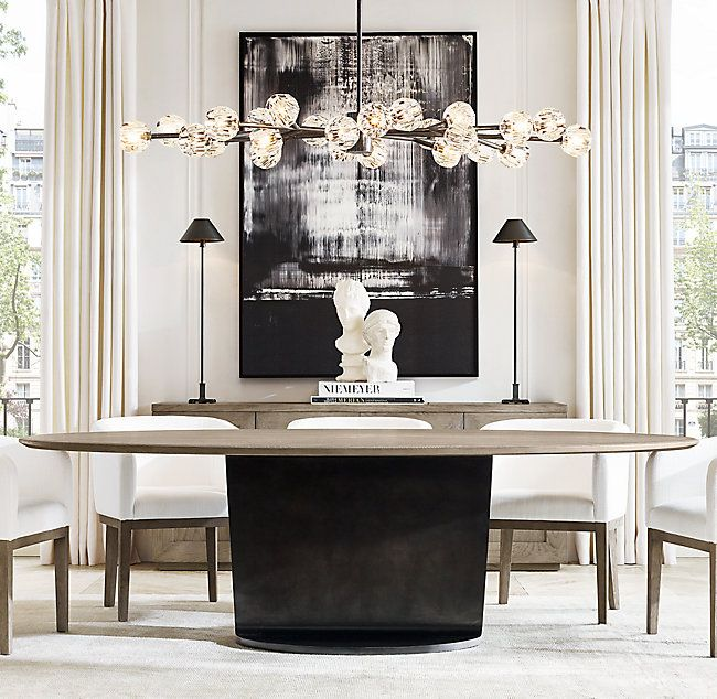 I Beam Oval Dining Table Interior Decorating Styles Oval Table Dining Interior