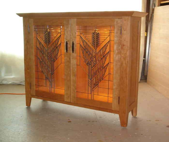 Frank Lloyd Wright And Stickley Inspired Entertainment Centers Cabinets Other Furniture Custom Made At Affordable Prices