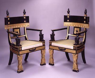 egypt inspired furniture Regency Egyptian Revival Style