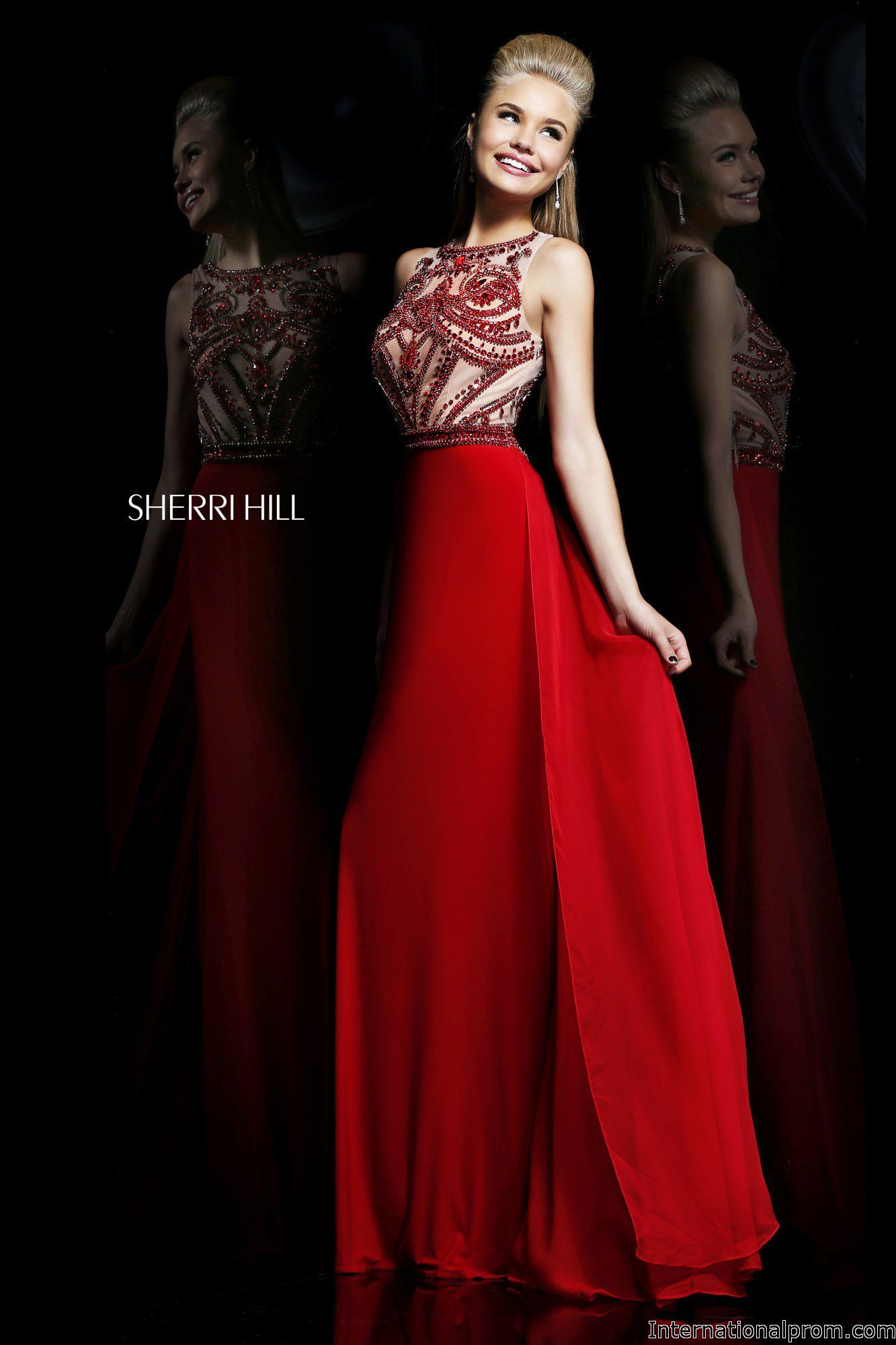 Stunning red from sherri hill ipaprom prom pinterest