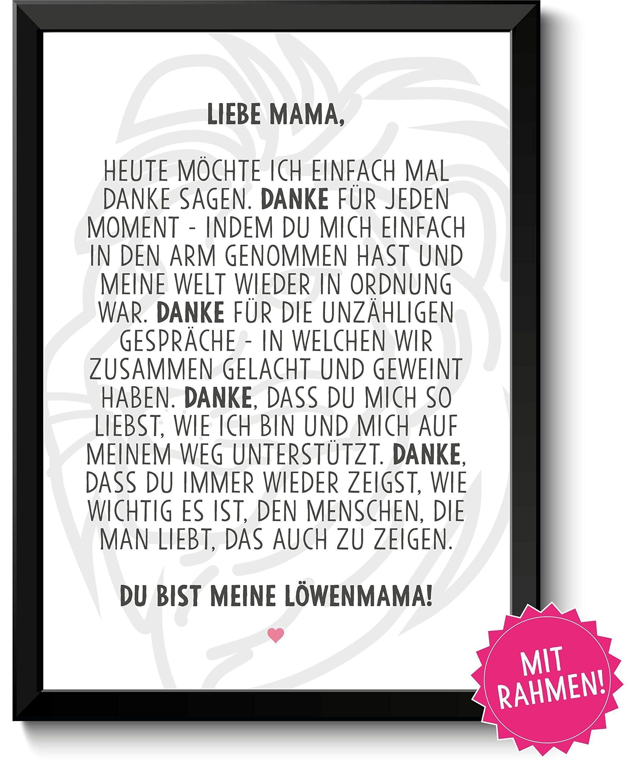 Lwenmama Gerahmtes Bild Geschenkideen Muttertag Geburtstag