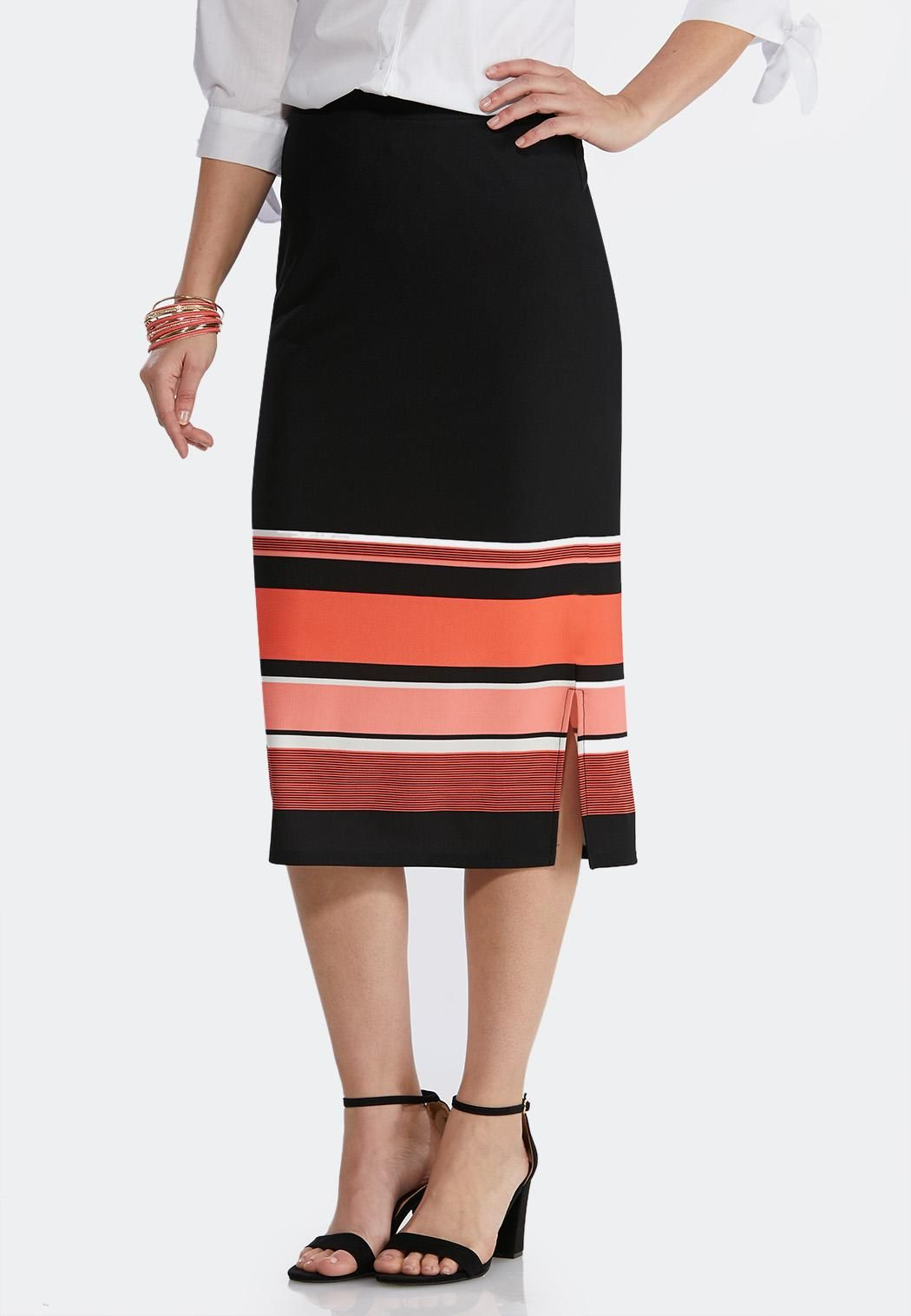 d9726fcf8 Textured Stripe Pencil Skirt Below The Knee Cato Fashions in 2019 ...