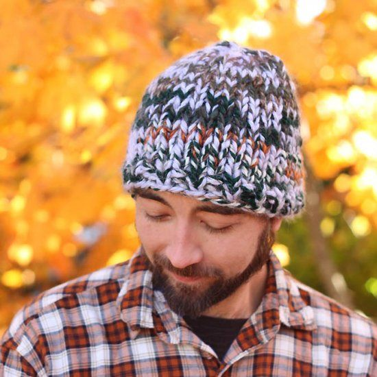 Free Beginner Knitting Pattern For This Mens Super Chunky Hat