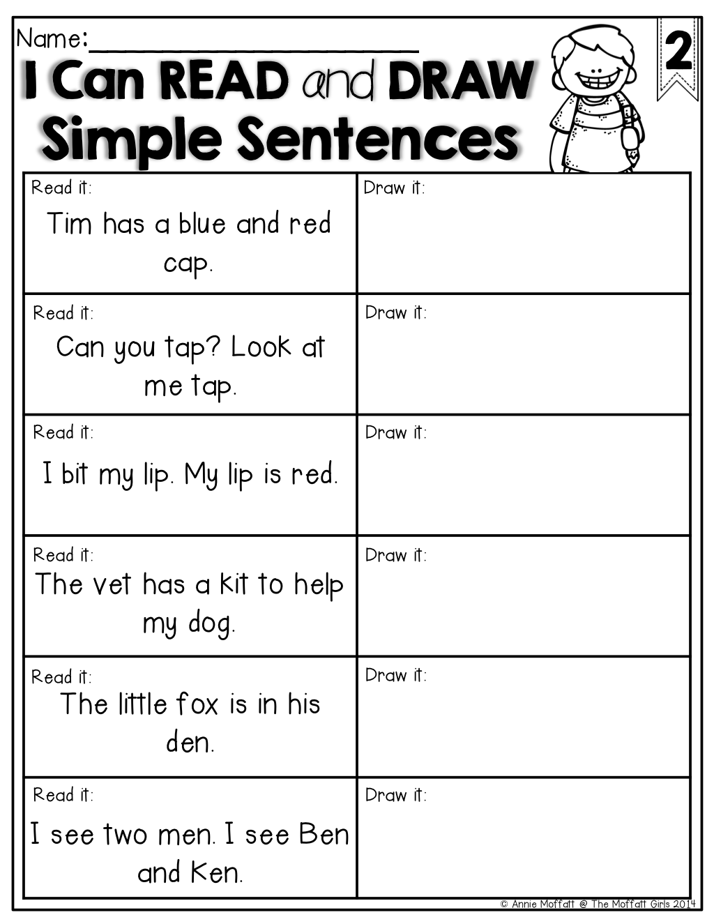 Read And Draw Simple Sentences What A Great Way To Check For Comprehension Of Sight Words And Cvc Wor First Grade Reading Kindergarten Reading School Reading [ 1325 x 1024 Pixel ]