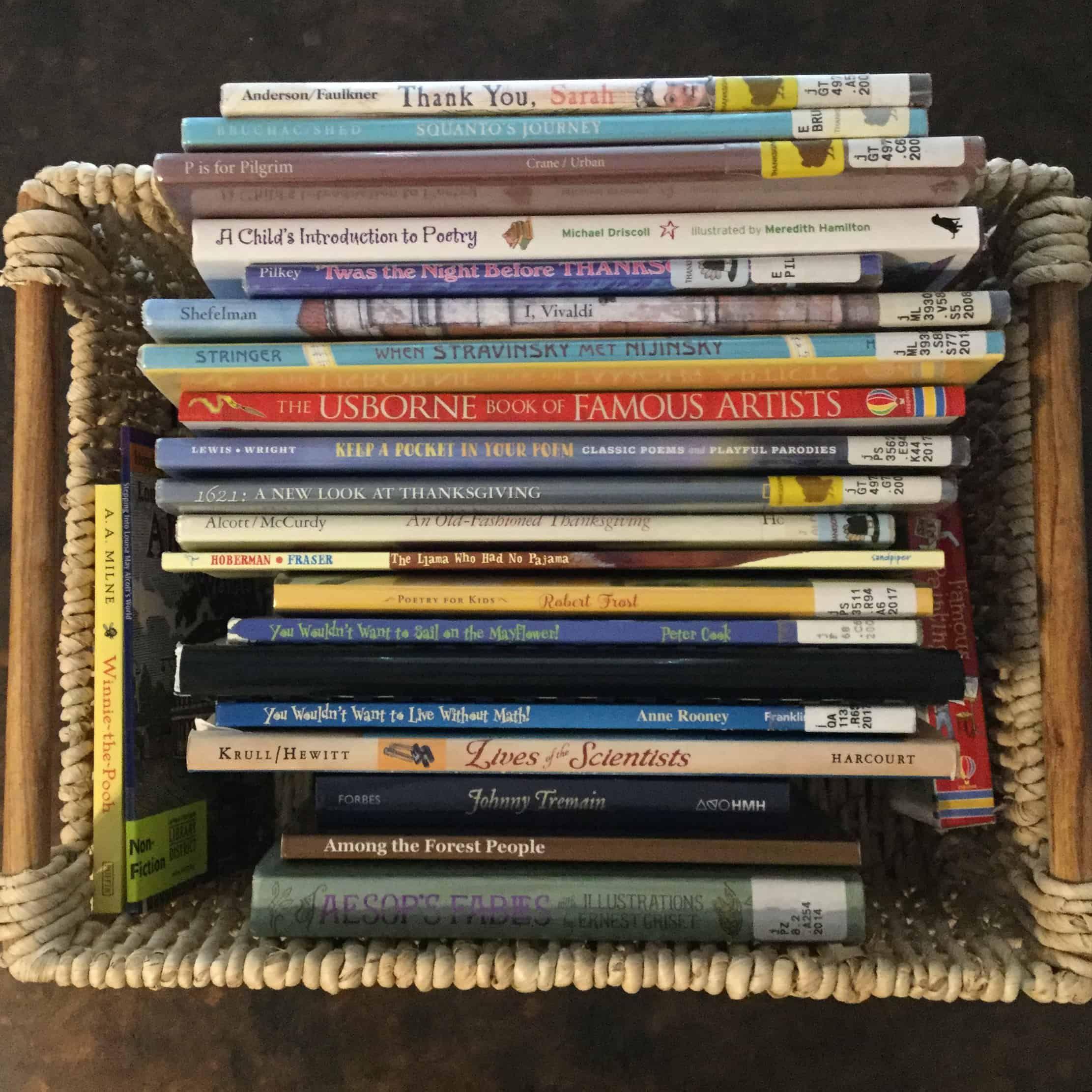 Morning Basket Book List
