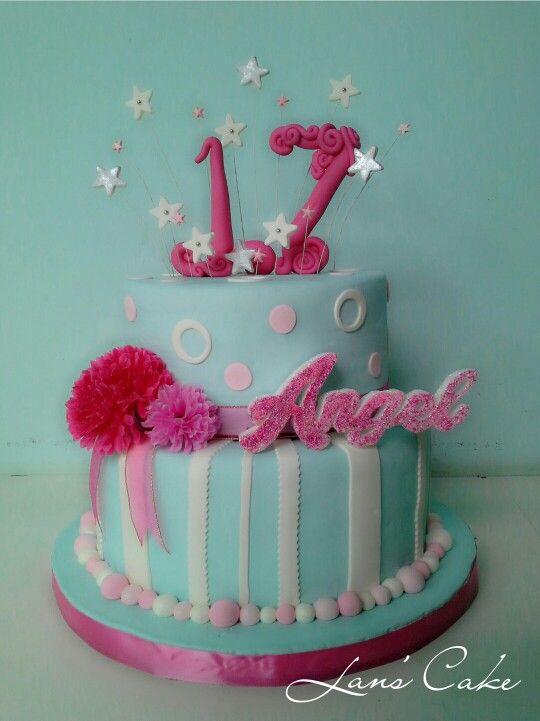 Astounding Angels Sweet 17Th Birthday Cake 17 Birthday Cake Cake Cake Birthday Cards Printable Riciscafe Filternl