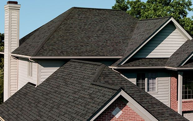 Best Landmark Shingle Colors With Brown Black Bricks Oakridge 640 x 480