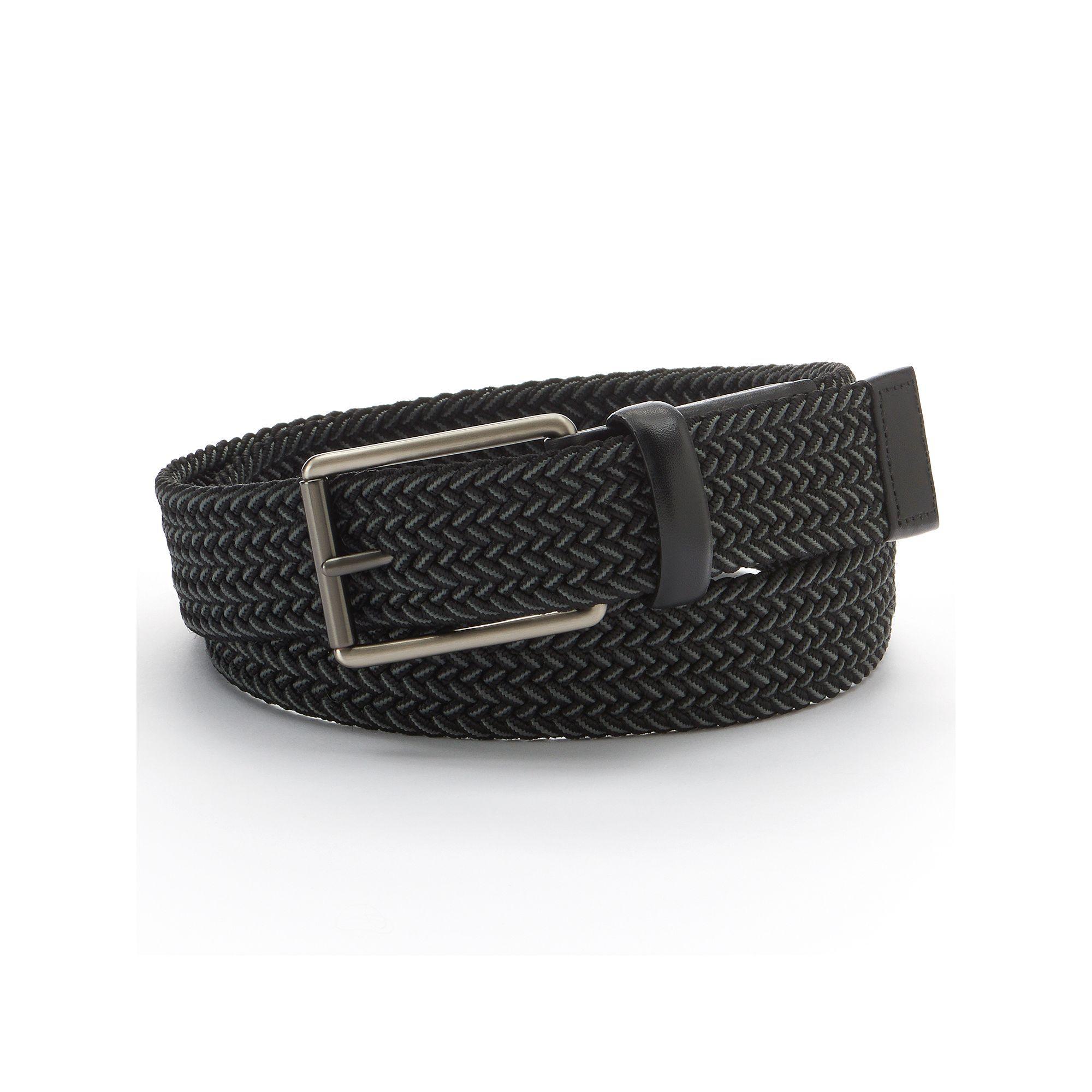 Black Various Sizes Belt Plaited Webbing /& Leather Ends
