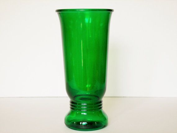 Vintage Green Depression Glass Vase Napco Cleveland Ohio 1168