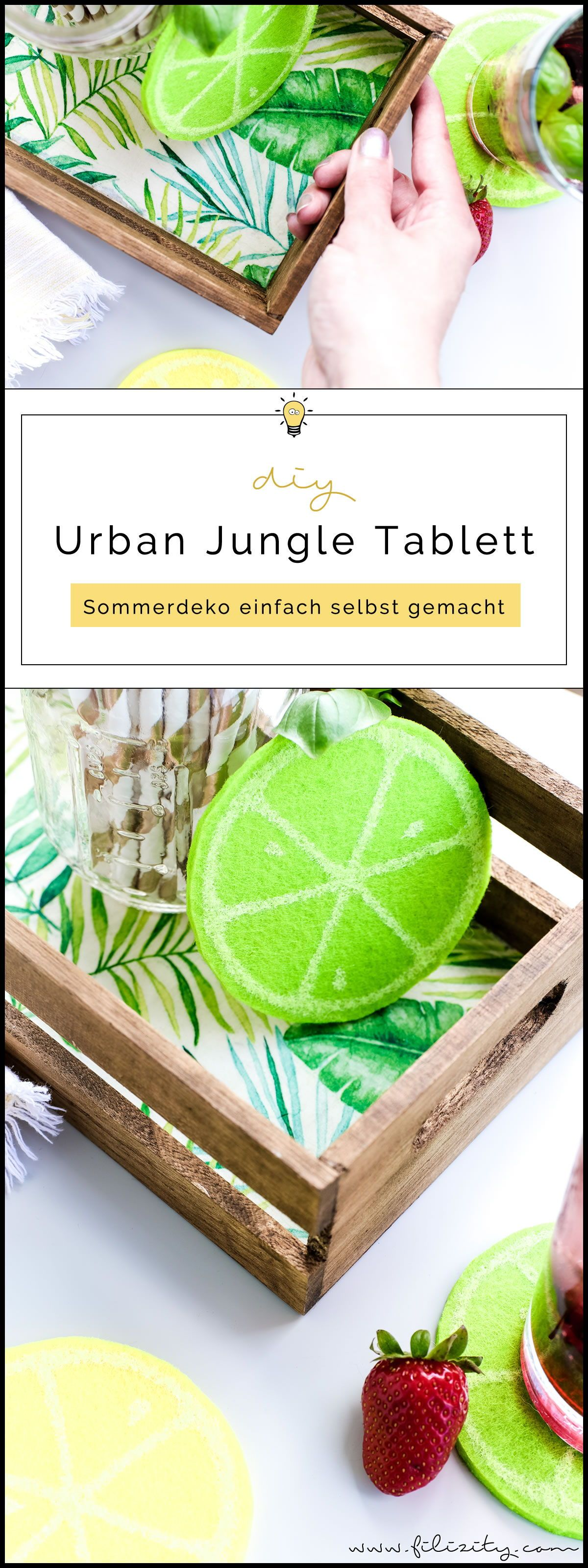 diy holz tablett im urban jungle style basteln mit serviettentechnik do it yourself pinterest. Black Bedroom Furniture Sets. Home Design Ideas