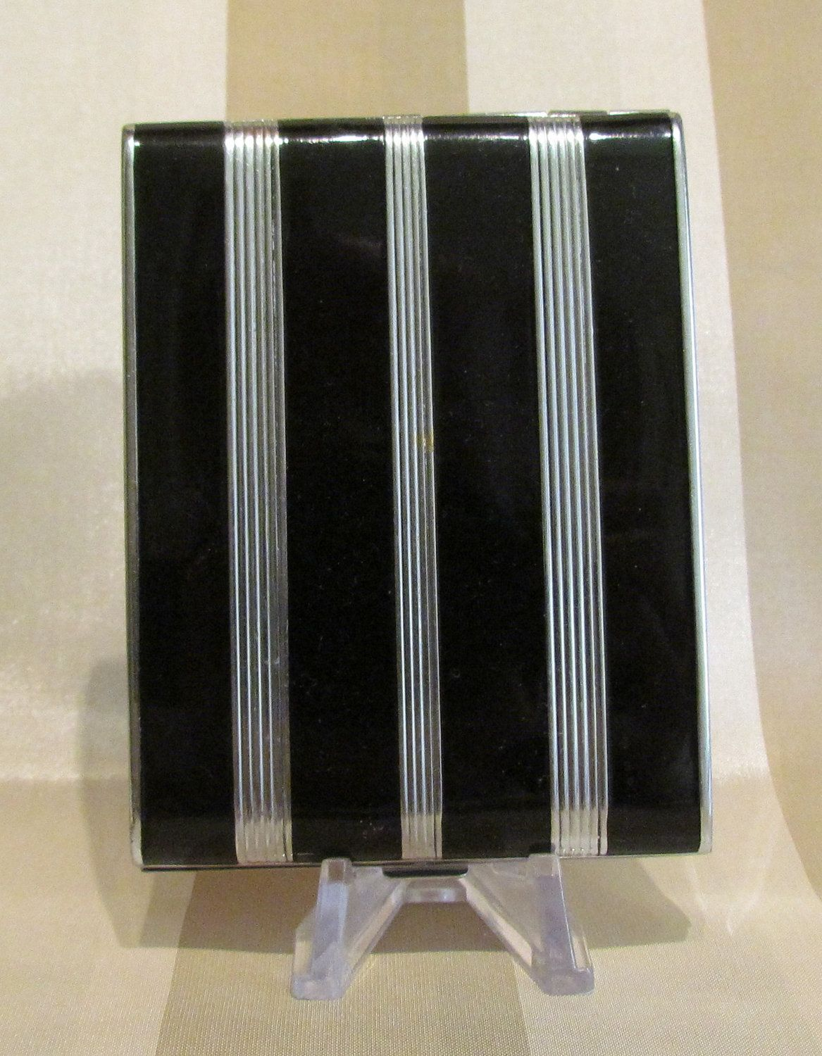 Vintage 1930s Evans Cigarette Case Art Deco Business Card Case Black ...