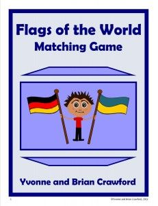 Free Flags of The World Printable Matching Game  Matching games