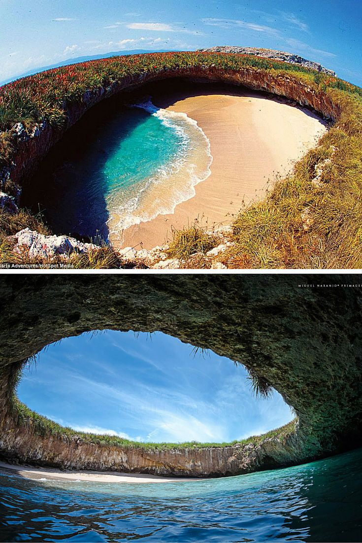 Hidden Beach – Marieta Islands, Mexico! Click through to see 15 more of the world's most unique & awesome beaches!