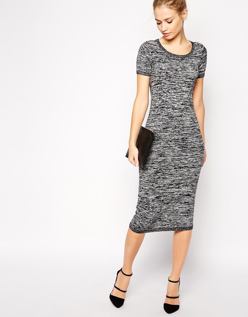 Image 4 of French Connection Fall Chop Dress in Midi Length