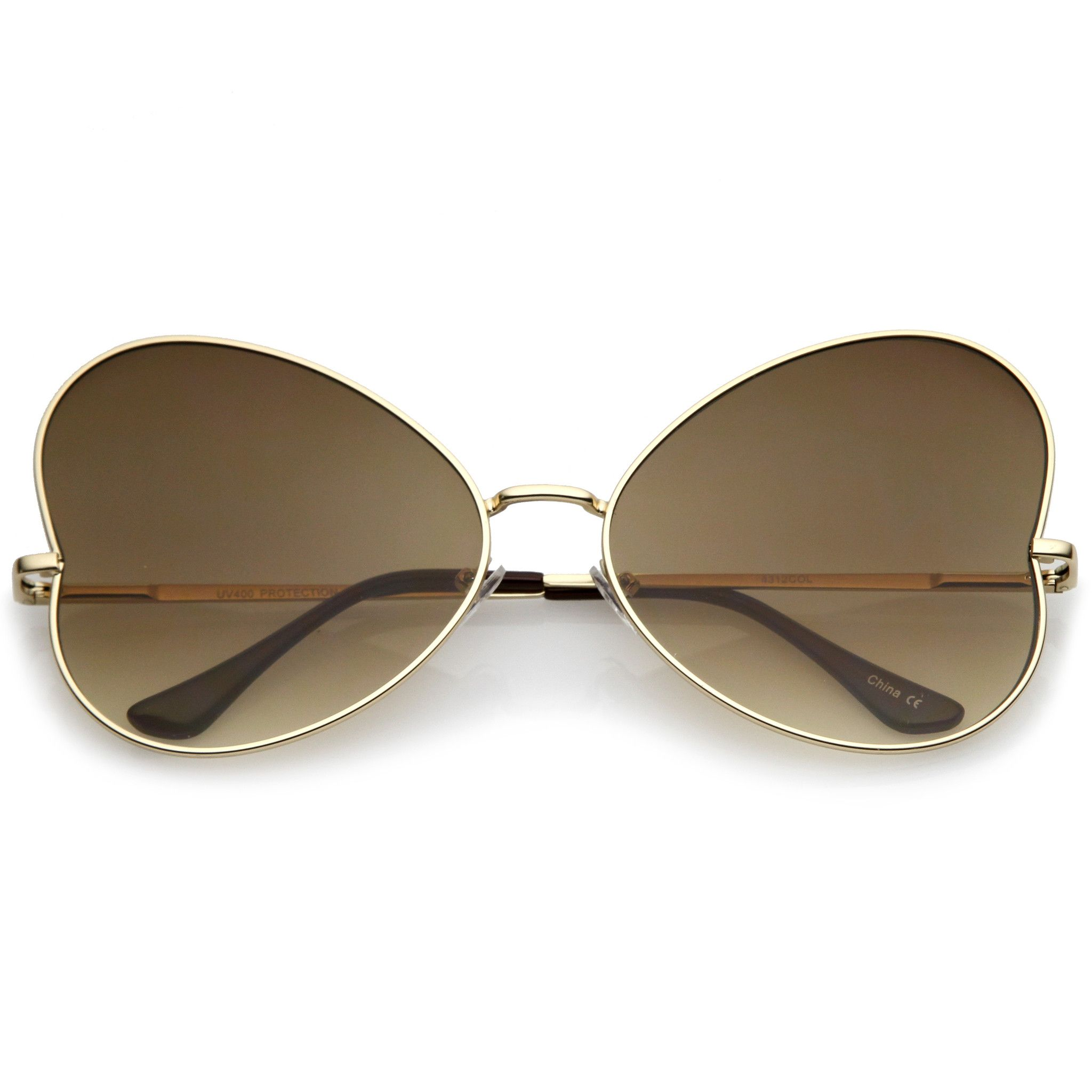 37f0524be19 Festival Indie Oversize Butterfly Gradient Lens Sunglasses C124 Cool  Sunglasses