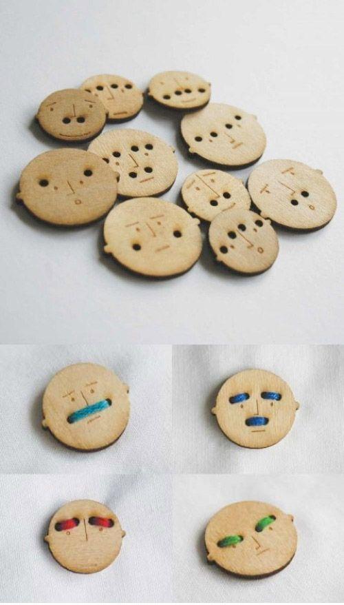 'Mr Button' buttons