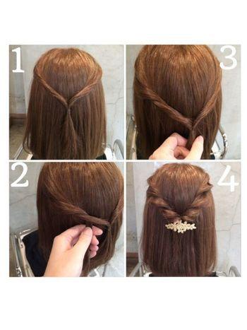 簡単なのに編み込み風 ねじってくるくる ロープ編み のヘアアレンジ術 ヘアーデザイン ヘアアレンジ ストレート 毛量の多い髪