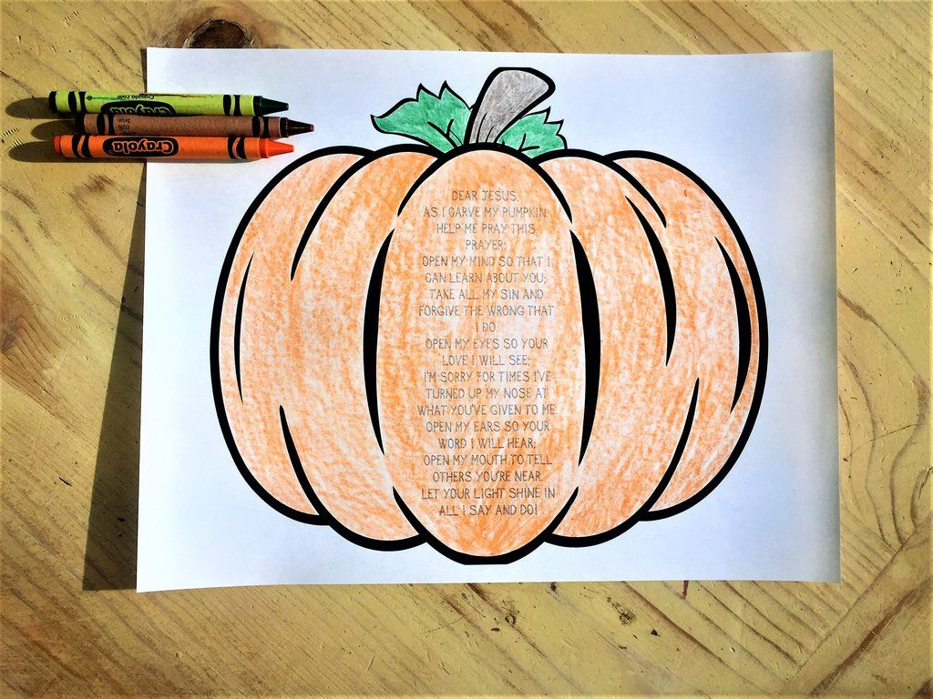 Pumpkin Prayer Coloring Page Sonrise Children S Ministry
