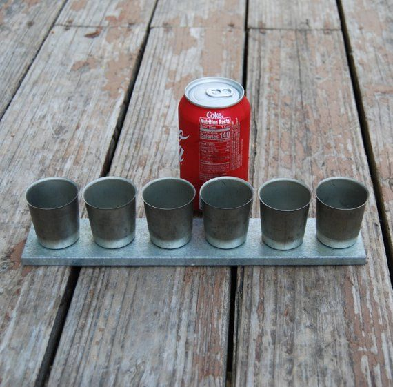 6 UP VOTIVE MOLD METAL CANDLES MOLDS NEW