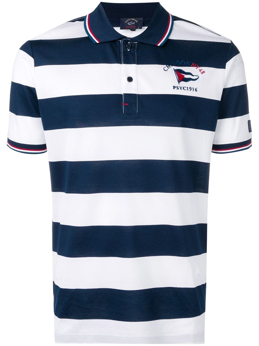 New Mens Short Sleeve Striped Cotton T Shirt Shark Polo Shirt with Embroidered