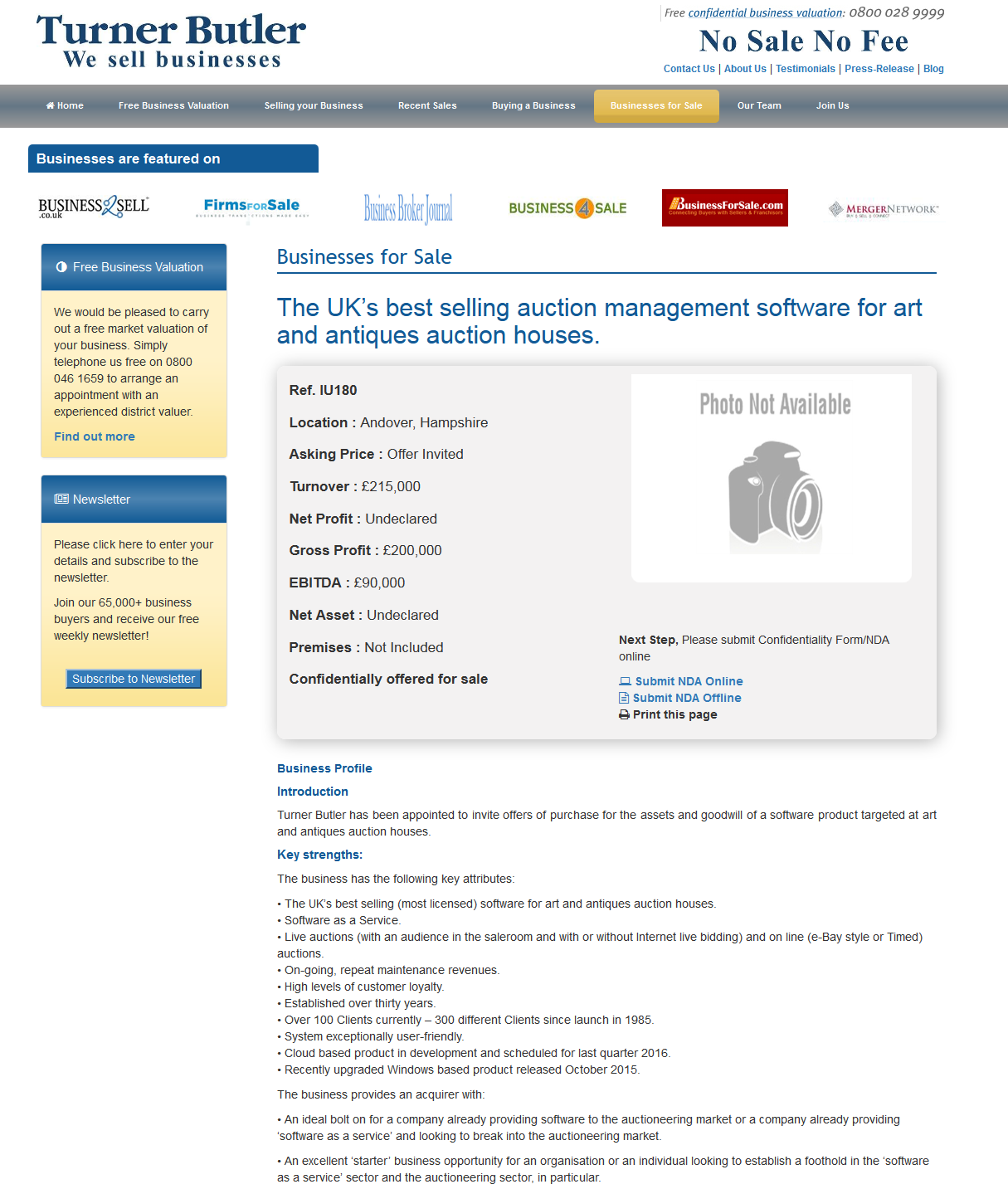 Businesses For Sale The Uk S Best Selling Auction Management Software For Art And Antiques Auction House Business Valuation Sell Your Business Success Business