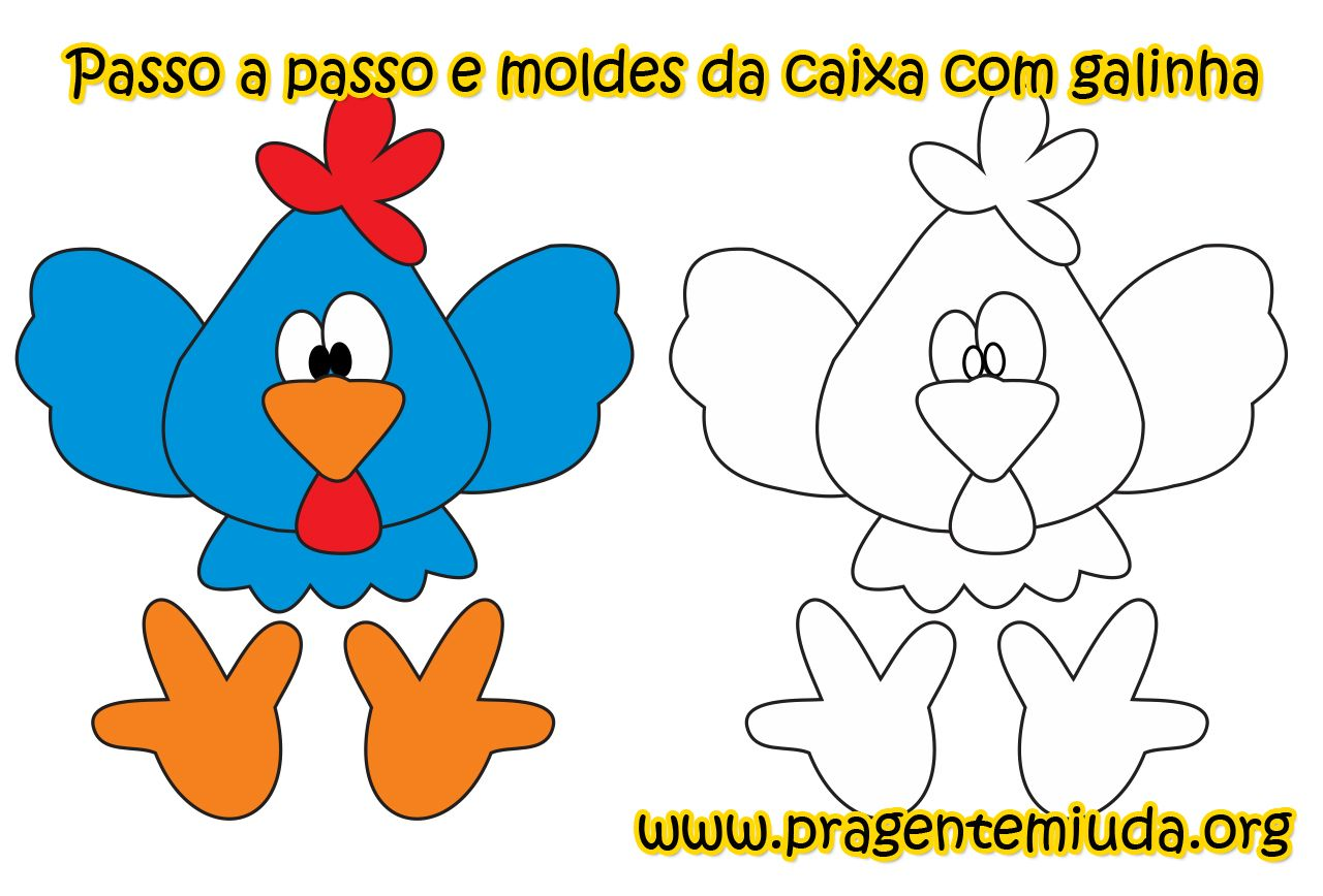 Molde Galinha Jpg 1280 868 Molde De Fantoche Galinha