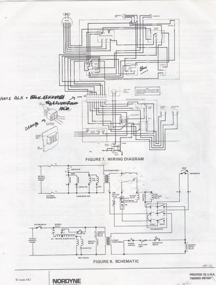 electric furnace wire diagram