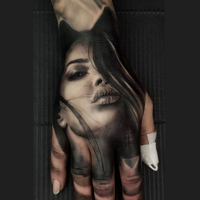 Insane Hand Tat Hand Tattoos Hand Tattoos For Guys Girl Face Tattoo