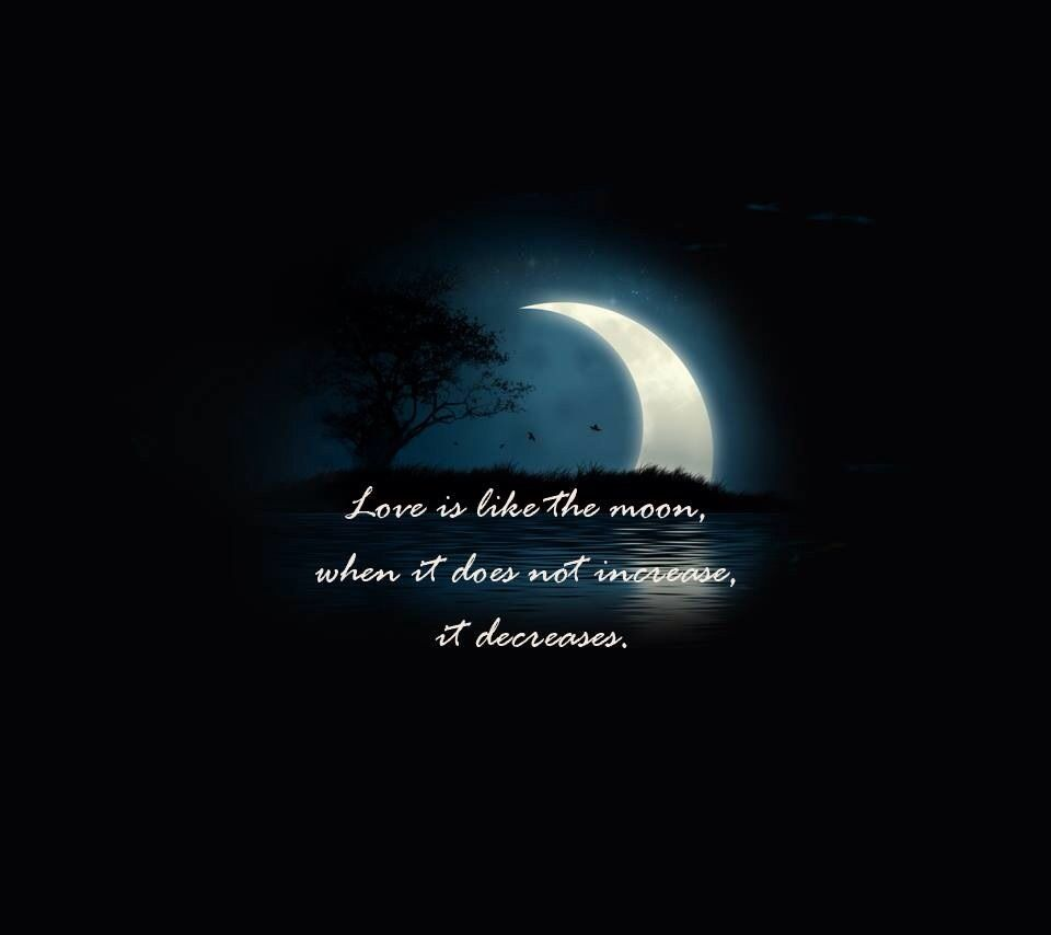 Love Is Like The Moon When It Does Not Increase It Decreases John Keats Picture Quotes Star Love Quotes Moon Quotes